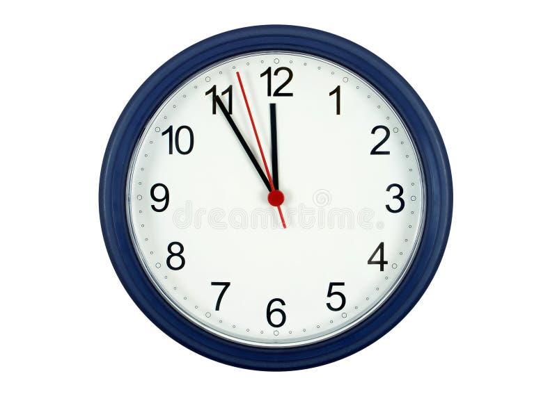 Cinco minutos lavram a meia-noite imagens de stock