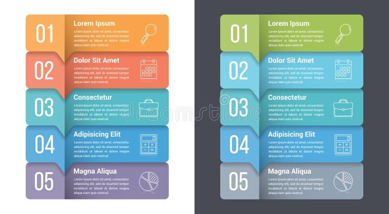 Cinco pasos Infographics libre illustration