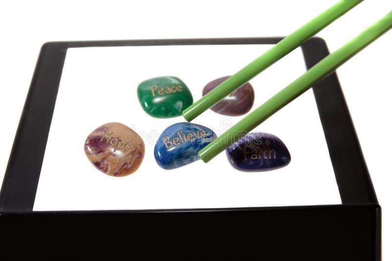 Cinco pedras da afirmação do ano novo imagem de stock