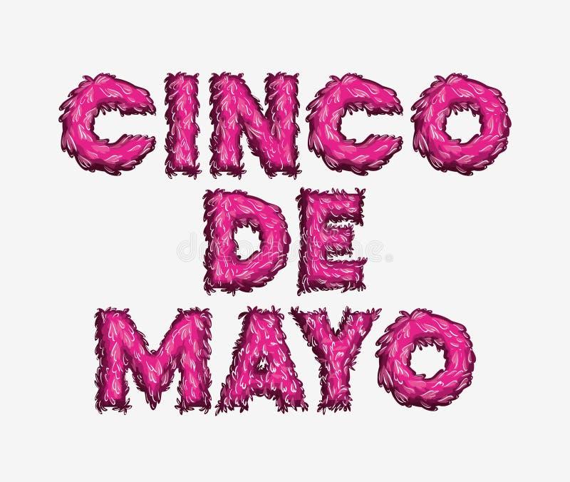 Cincode Mayo kaart met doopvontkleuren vector illustratie
