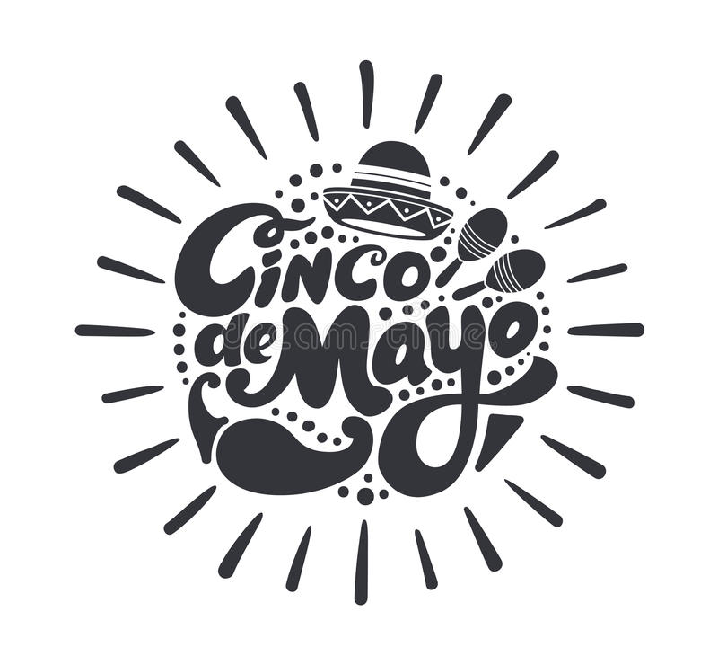 Cincode Mayo symbool stock illustratie