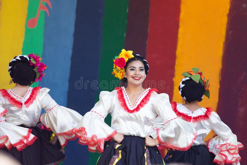 Cincode Mayo viering in Portland, Oregon stock afbeeldingen