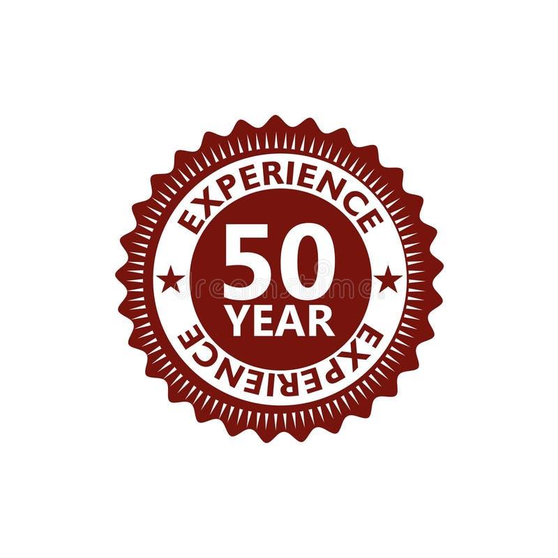 Cincuenta años de experiencia, 50 años de icono de la experiencia, muestra, botón libre illustration