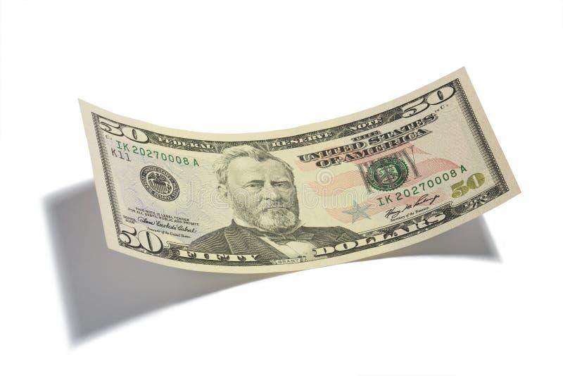 Cincuenta dólares Bill aislado fotos de archivo