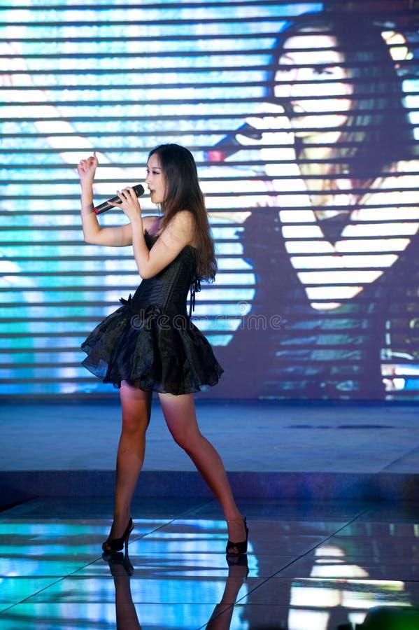 Cincuenta-primera competencia de Srta. International Jiangxi de la canción- popular imágenes de archivo libres de regalías