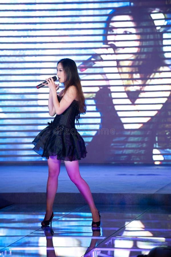 Cincuenta-primera competencia de Srta. International Jiangxi de la canción- popular fotografía de archivo