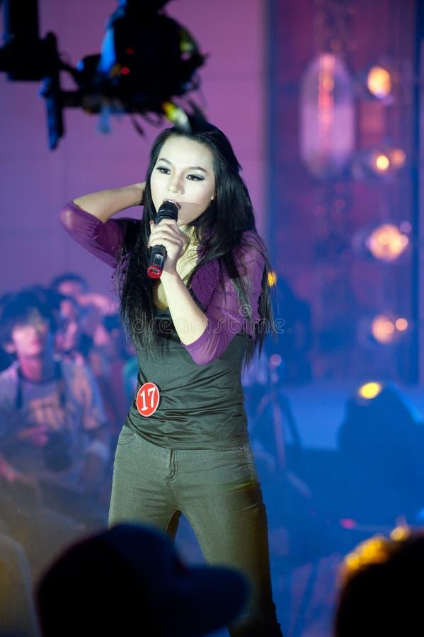 Cincuenta-primera competencia de Srta. International Jiangxi de la canción- popular imagenes de archivo