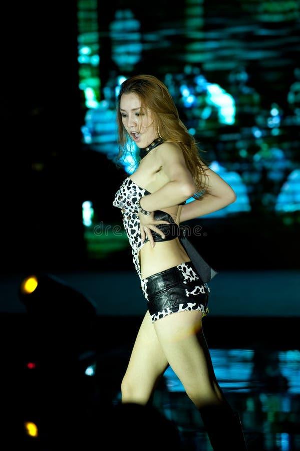Cincuenta-primera competencia de Srta. International Jiangxi de la danza- salvaje imagen de archivo libre de regalías