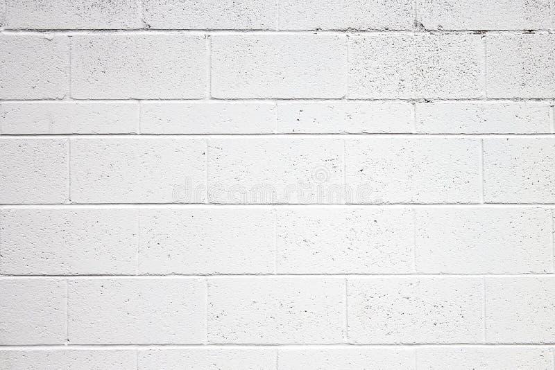 Cinder Block Wall Texture Painted-Weiß lizenzfreie stockbilder