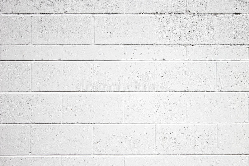 Cinder Block Wall Texture Painted White royalty free stock images