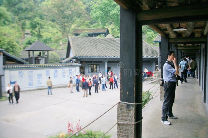 Cinder Cave em Chongqing fotografia de stock
