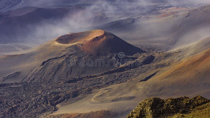 Cinder Cone in Haleakala-Krater in het Nationale Park Maui Hawaï de V.S. van Haleakala stock afbeeldingen