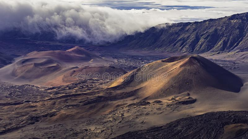 Cinder Cones in Haleakala-Krater in het Nationale Park Maui Hawaï de V.S. van Haleakala royalty-vrije stock afbeelding