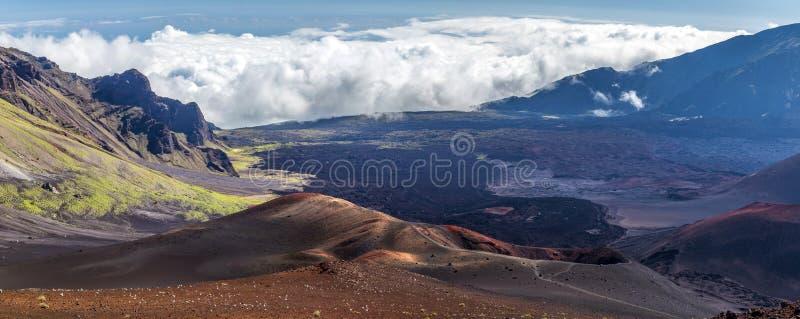 Cinder cones of Haleakala, Maui, Hawaii royalty free stock images