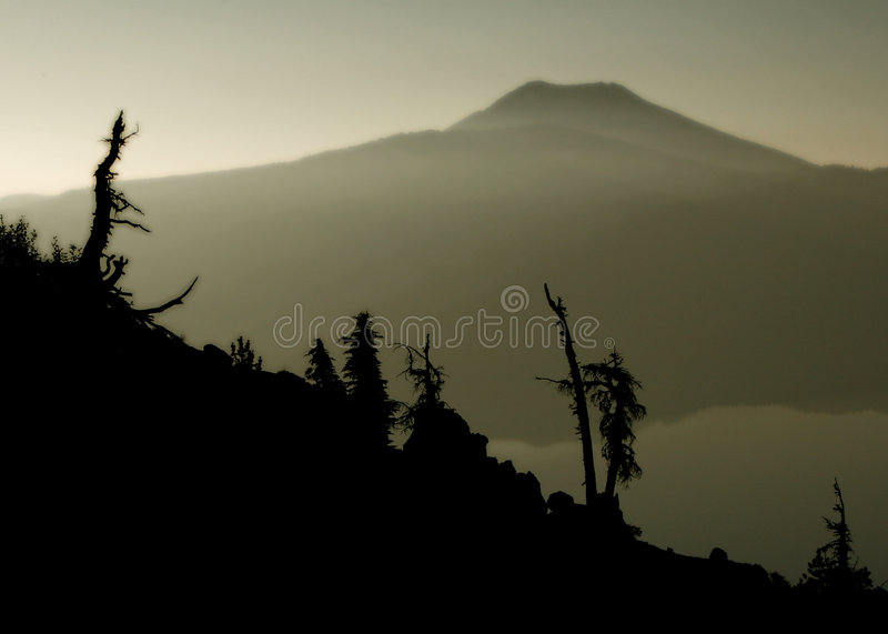 Download Cinder and smoke stock photo. Image of charred, mountain - 1752540