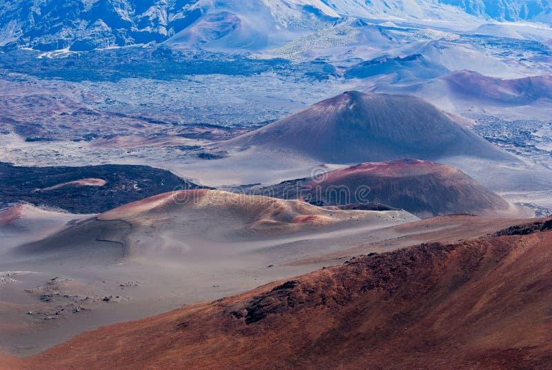Cindercones volcánico en colores pastel imagen de archivo libre de regalías
