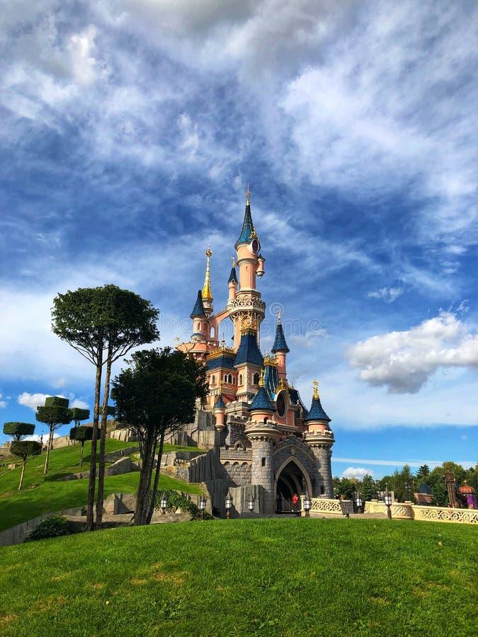 Cinderella's slott royaltyfria bilder