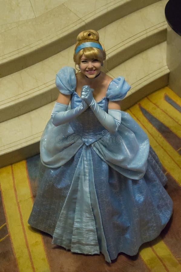 Cinderella στη Disney μαγική στοκ εικόνες