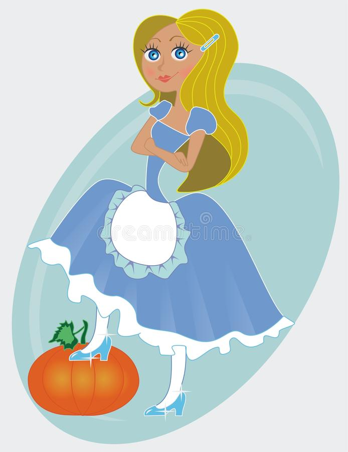 Cinderella vector illustratie