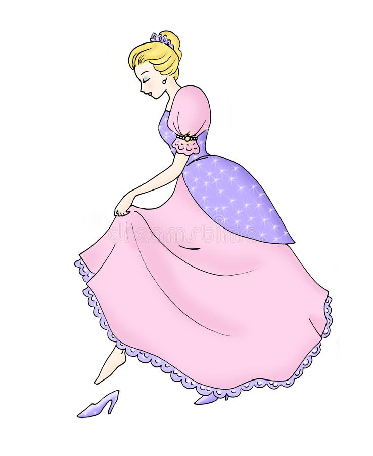 Cinderella stock illustratie