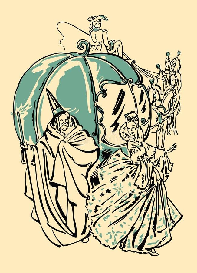 Cinderella royalty-vrije illustratie