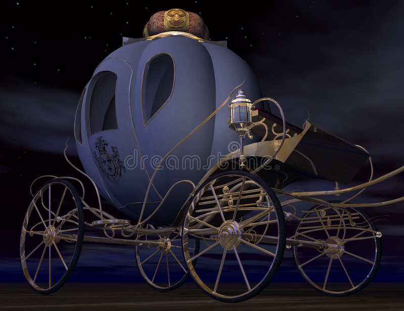 Cinderella. 3D render of cinderella`s carriage in the night, check my other renders and make sure your content filter is OFF