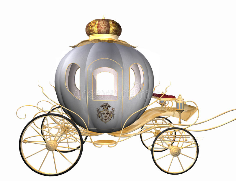 Cinderella. 3D render of cinderella`s carriage isolated on white, check my other renders and make sure your content filter is OFF