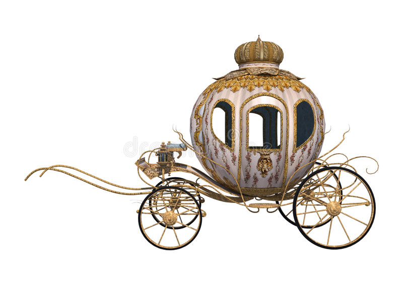 Cinderella Carriage royalty free illustration