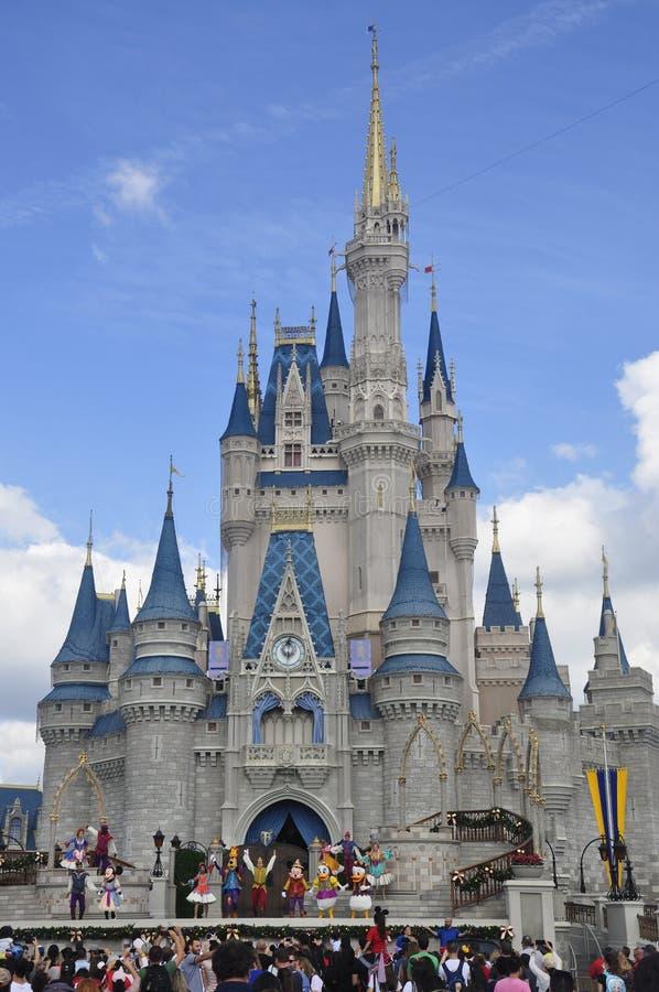Cinderella Castle bij Magisch Koninkrijkspark, Walt Disney World Resort Orlando, Florida, de V.S. stock fotografie