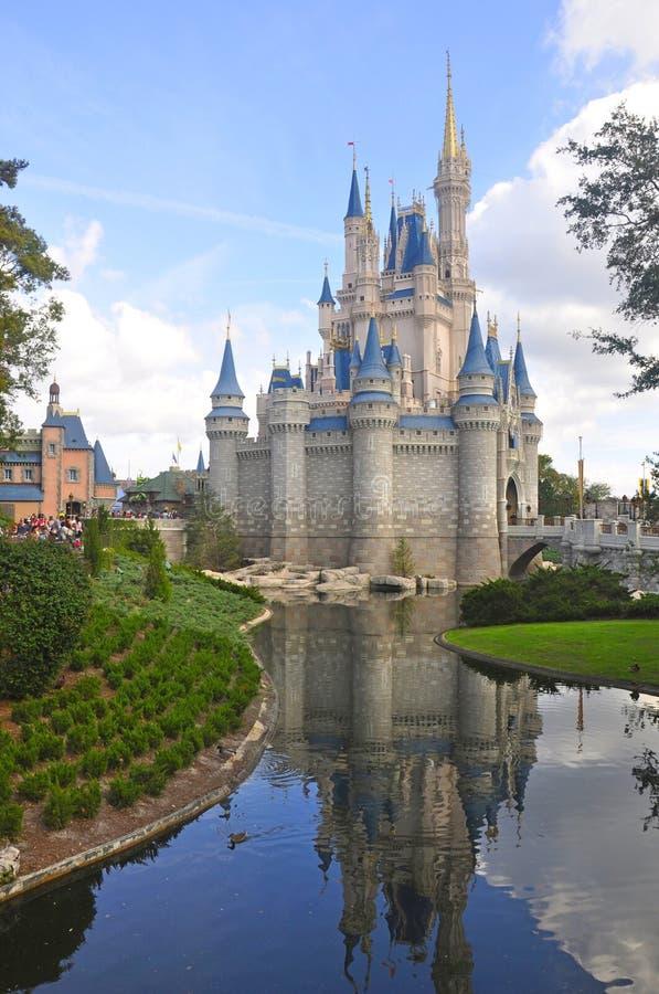 Cinderella Castle bij Magisch Koninkrijkspark, Walt Disney World Resort Orlando, Florida, de V.S. royalty-vrije stock fotografie