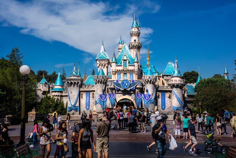 Cinderella Castle Disneyland Anaheim fotos de archivo libres de regalías
