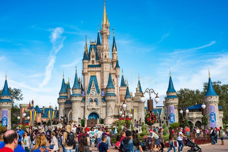 Cinderella Castle at The Magic Kingdom, Walt Disney World. Orlando, Florida: December 2, 2017: Cinderella Castle at The Magic Kingdom, Walt Disney World. In royalty free stock photos
