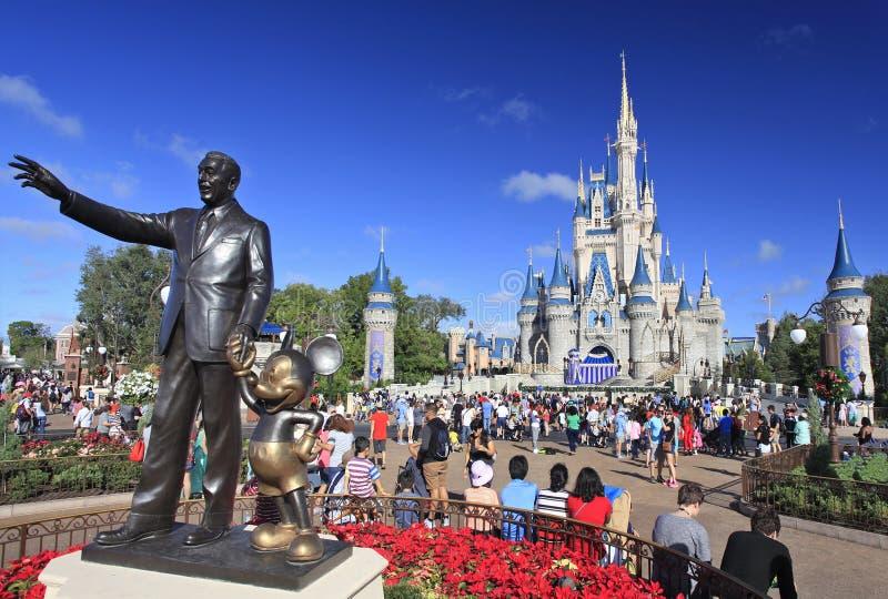 Cinderella Castle, Magisch Koninkrijk, Disney stock afbeelding