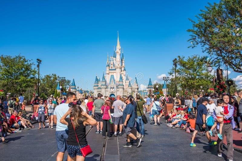 Cinderella Castle på det magiska kungariket, Walt Disney World arkivbilder