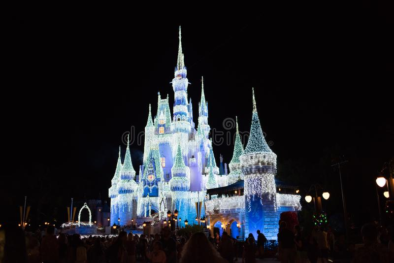 Cinderella Castle på det magiska kungariket, Walt Disney World arkivfoton