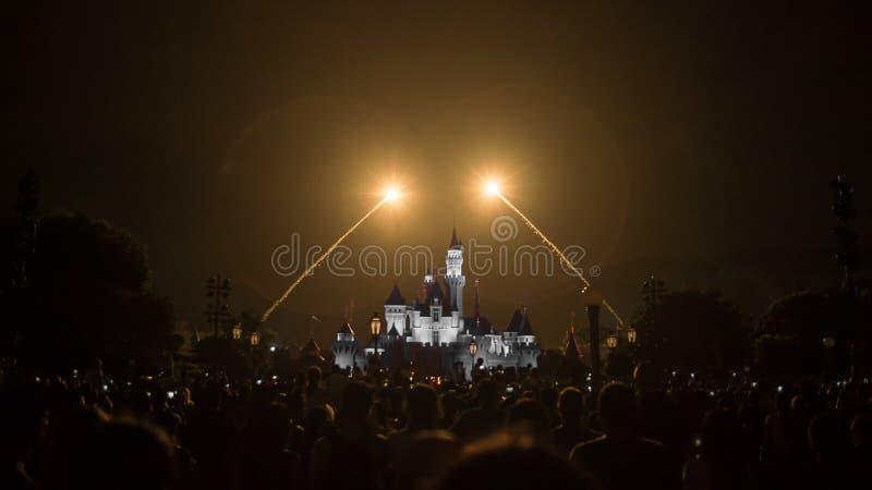 Cinderella Castle på Disneyland, Hong Kong royaltyfria bilder