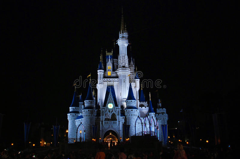 Cinderella disney castle night view. In magic kingdom, disney world Orlando, Florida royalty free stock photo