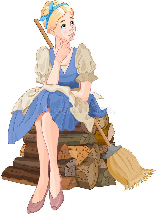 Cinderella Dreaming royalty free illustration