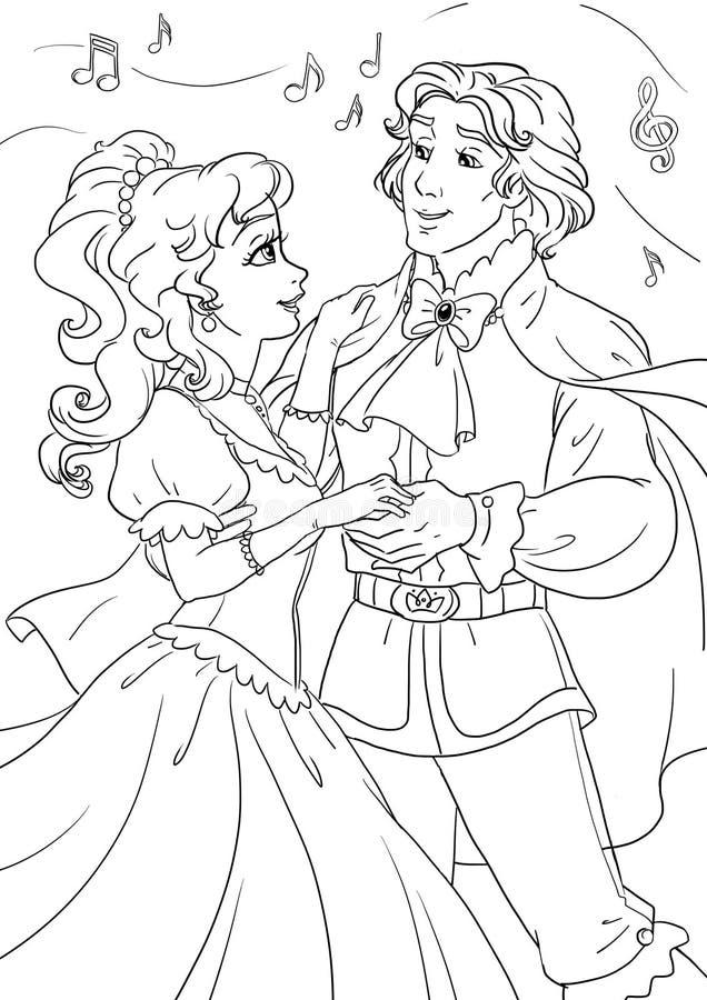 Cinderella en Prins vector illustratie