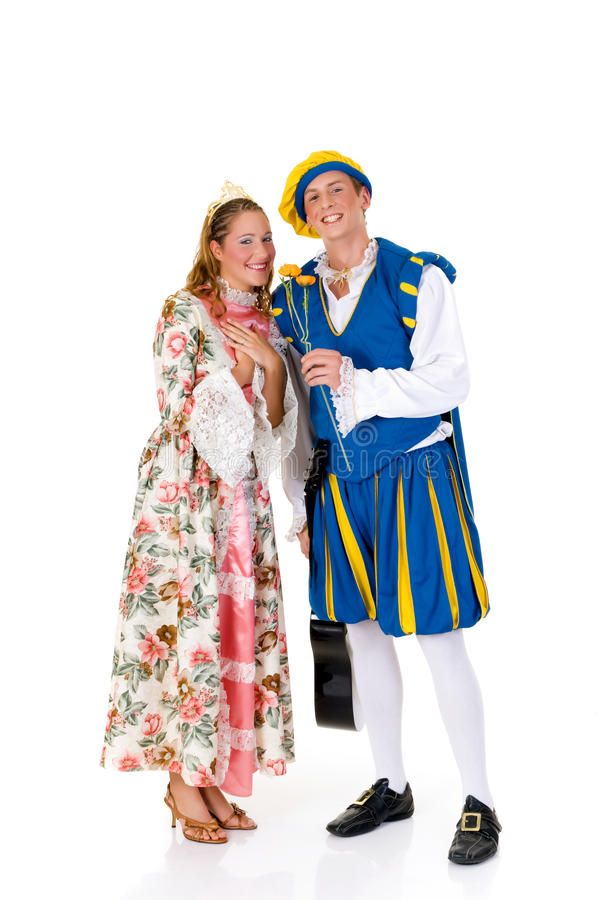 Cinderella en prins, Halloween royalty-vrije stock fotografie