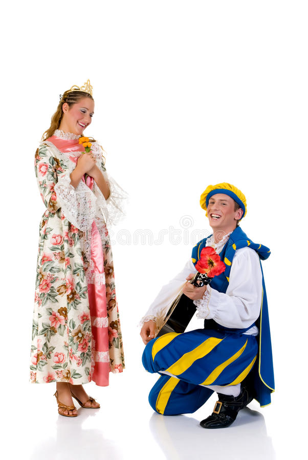 Cinderella en prins, Halloween royalty-vrije stock afbeelding