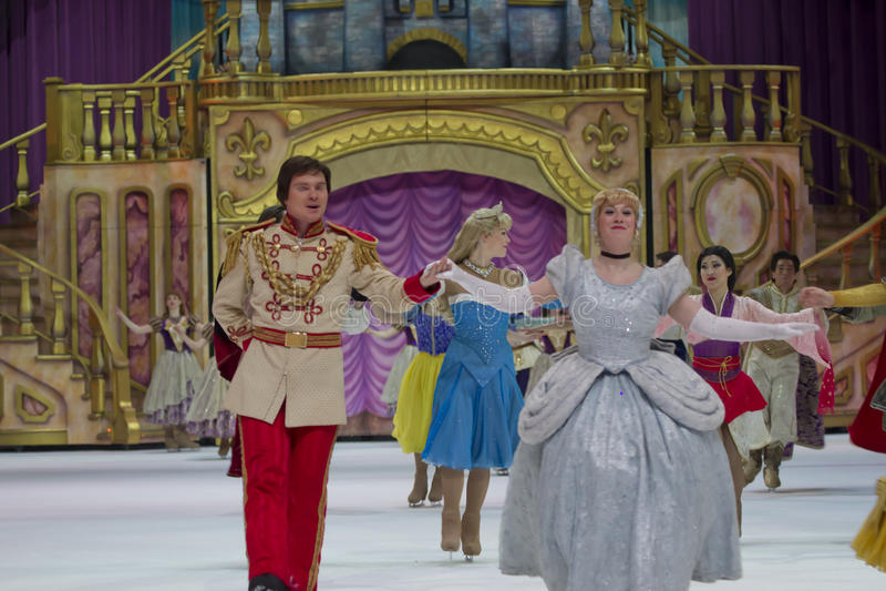 Cinderella en Prinsessen stock afbeeldingen