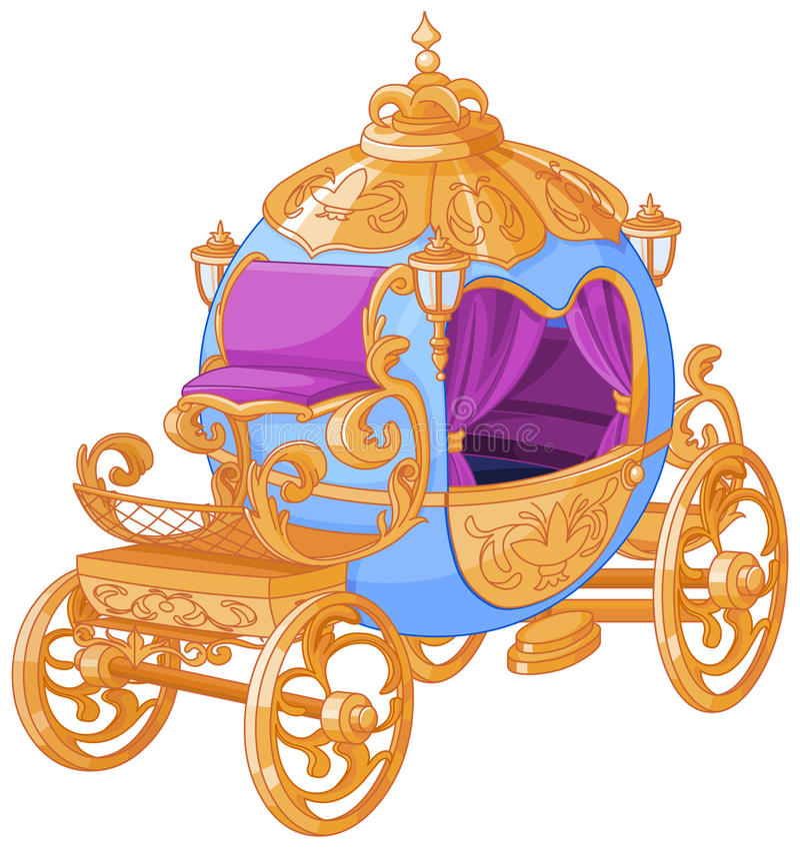 Cinderella Fairy Tale Carriage stock illustration