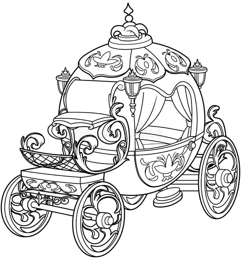 Cinderella Fairy Tale Pumpkin Carriage vector illustration