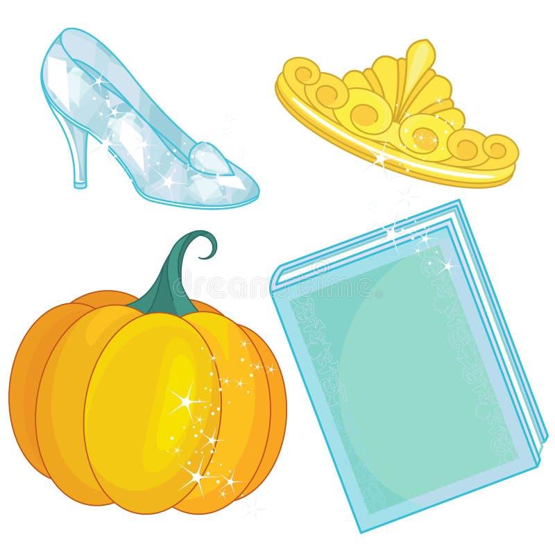 Cinderella Fairy Tale Set stock illustratie