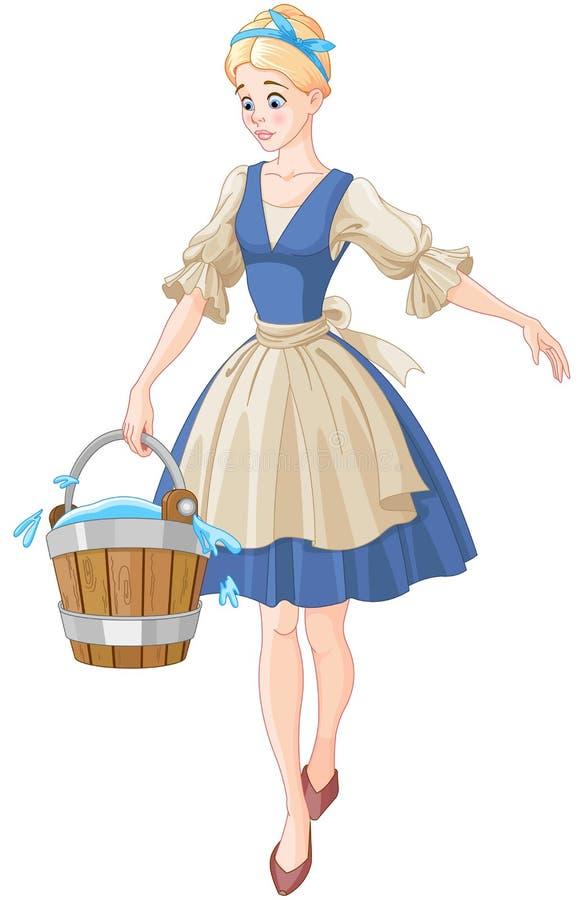 Cinderella Holds een Emmer royalty-vrije illustratie