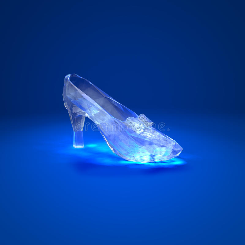 Cinderella kristallhäftklammermatare vektor illustrationer