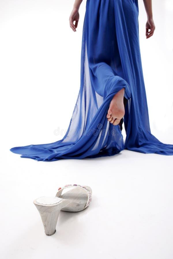 Cinderella perdeu a sapata fotografia de stock royalty free