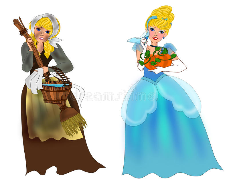 Cinderella vector illustration
