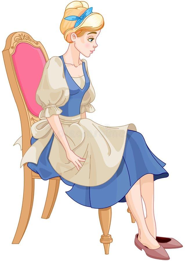 Cinderella Ready om de Glaspantoffel te dragen vector illustratie